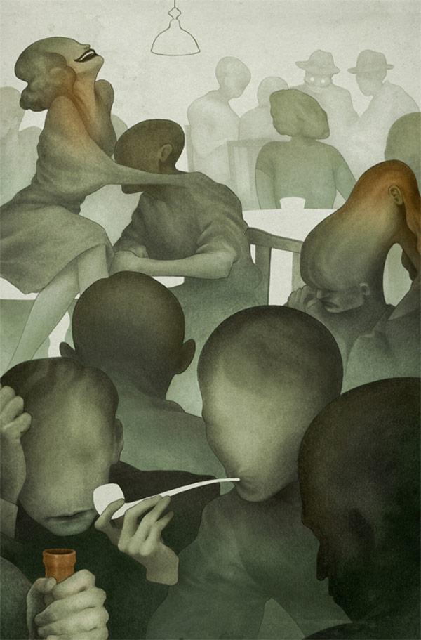 Illustration for La Nausée by Jean-Paul Sartre.