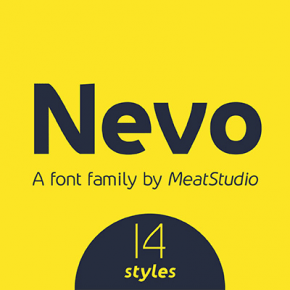 Nevo Font Family by Stew Deane