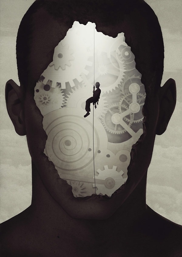 Self-exploration - artwork by Björn Griesbach, a Hannover, Germany based illustrator.