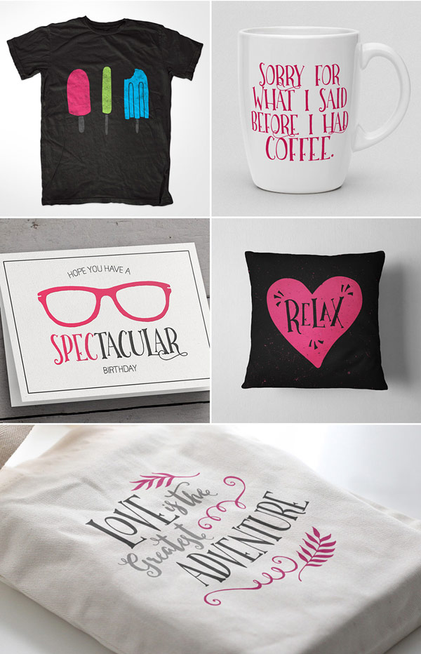 Some examples of use - all things offer a nice hand-lettered look.