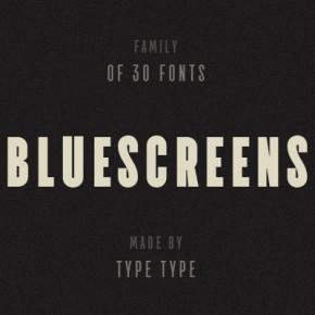 TT Bluescreens Fonts by Ivan Gladkikh of TypeType