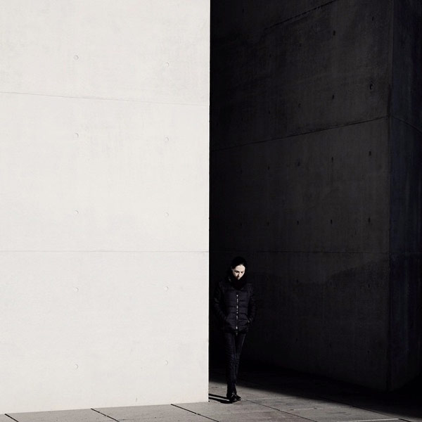 The contrast of simple black and white in our urban environment.