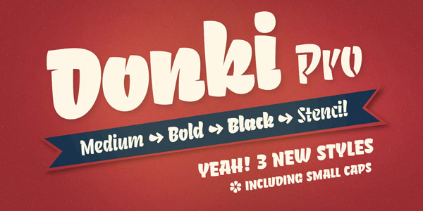 The Donki Pro font family by Gunnar Link.