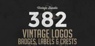 382 vintage logos bundle by Alex Traian Munteanu of Zeppelin Graphics.