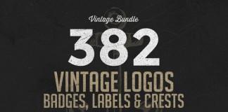382 vintage logos bundle by Alex Traian Munteanu of Zeppelin Graphics.