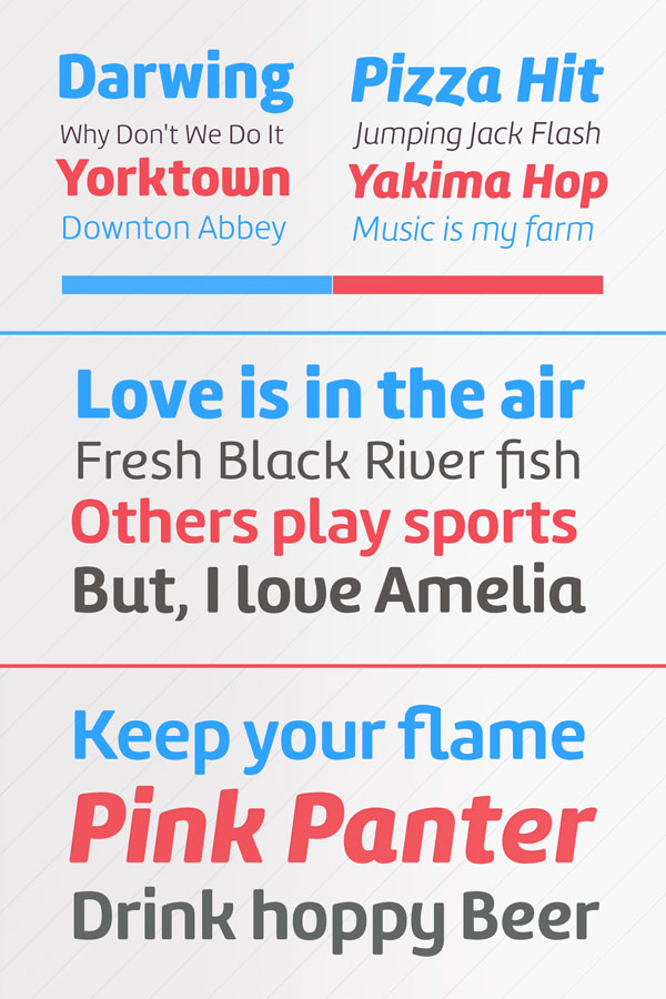 Amelia Rounded Font Family from TipoType