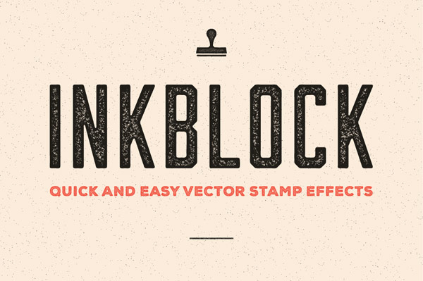 Inkblock – Adobe Illustrator actions for quick and easy vector stamp effects.