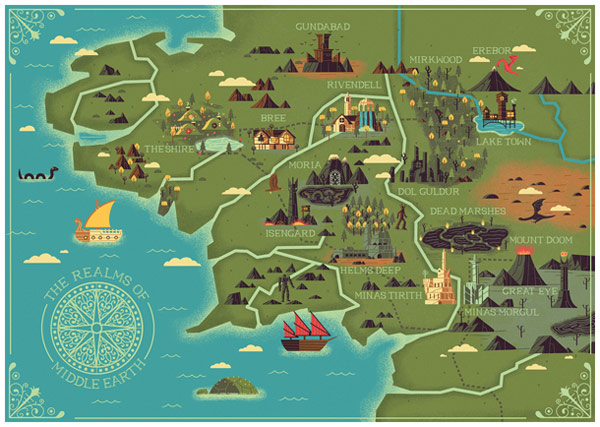 The Realms of Middle Earth