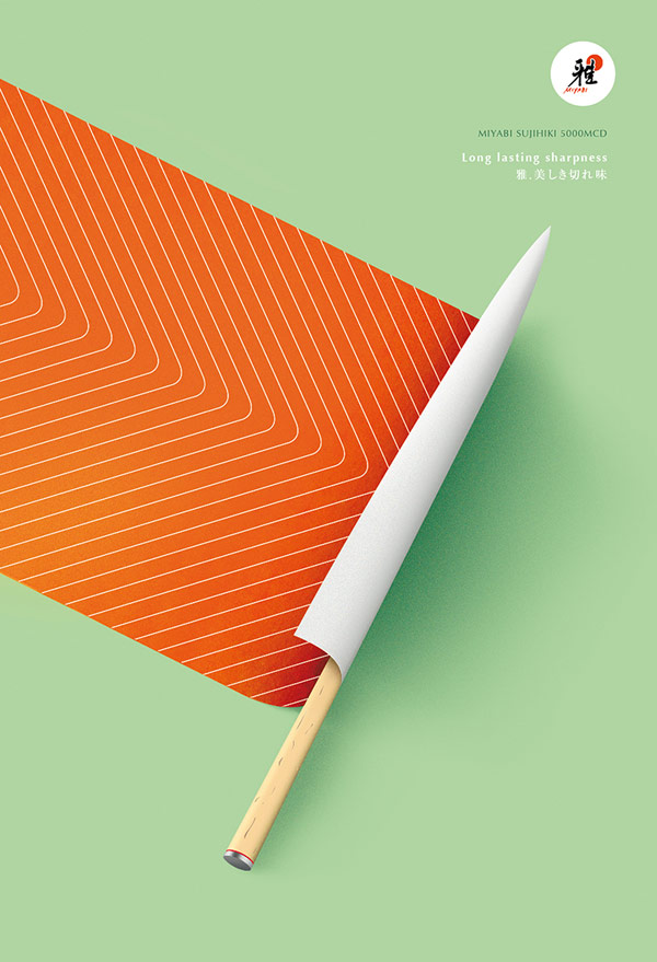 miyabi knives long lasting sharpness campaign created by paris france based studio herezie