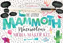The Mammoth watercolor media maker kit.