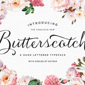 Butterscotch Font - Hand Lettered Script Typeface