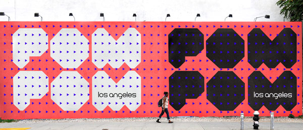 Big billboard advertisement in Los Angeles.