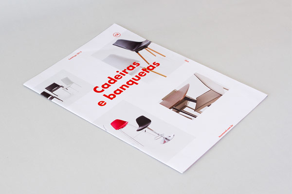 Catalog cover design   the complete work is based on a modern and clean  look. Itex    furniture catalog design by Los Caballos