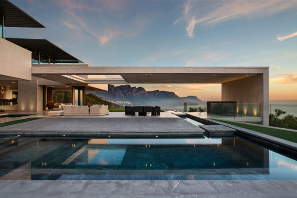 The house provides 360 degree views of the mountains.