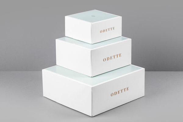 A simple and clean packaging design.