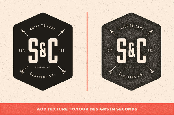 Add textures to your designs in seconds.