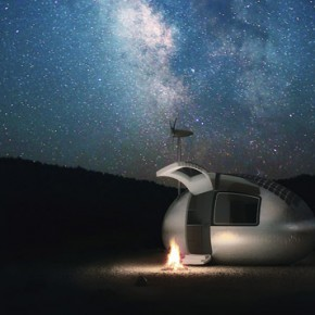 Ecocapsule - Portable Solar and Wind-Powered Micro Home