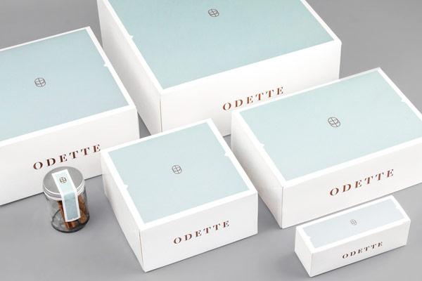 Odette bakery branding and packaging design by Dmowski & Co.