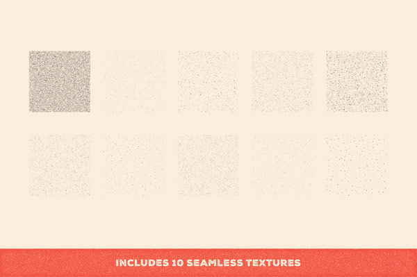 The download pack also includes 10 seamless textures.
