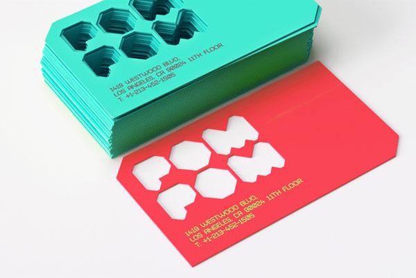 Unique business card design.