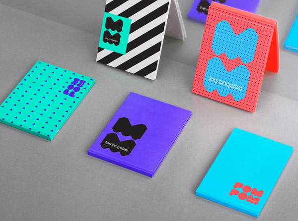 Colorful branding materials.