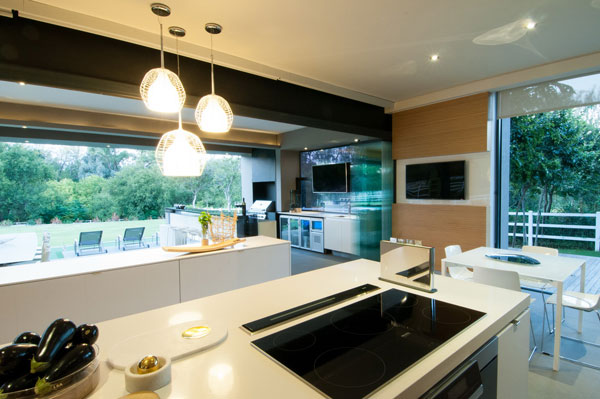 Simple and elegant design in the kitchen.