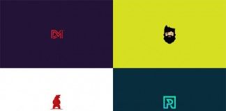 Colored logos and marks by graphic designer and illustrator Nuray Nuri.