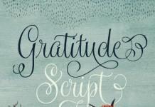 Gratitude Script font
