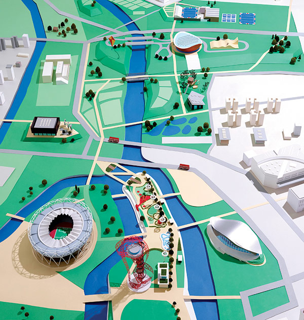 Map of the Queen Elizabeth Olympic Park.