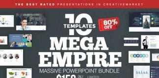 Mega Empire Powerpoint Bundle by Slidedizer.