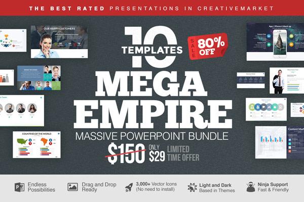 Mega empire powerpoint templates bundle mega empire powerpoint bundle by slidedizer toneelgroepblik Image collections