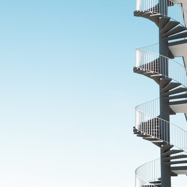"Spiral Staircase - image from the series ""Urban Nautilus""."