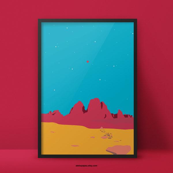Space Question Prints by Aleksandar Papez