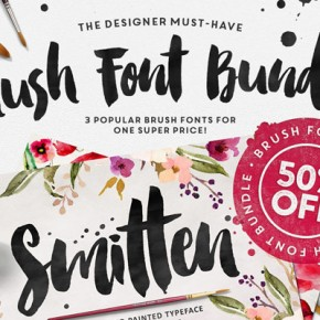 Brush Fonts Bundle with 3 Hand Painted Typefaces