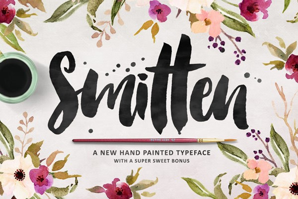 The hand painted Smitten typeface with a super sweet bonus.