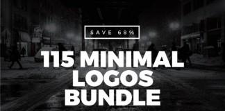 115 minimal logos bundle - 68% off!
