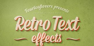 Adobe Photoshop Retro Text Effects.