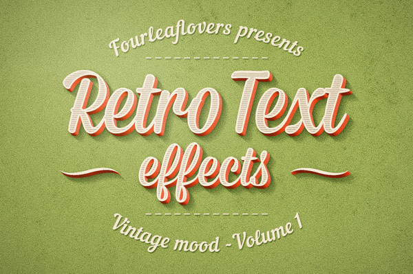 Adobe Photoshop Vintage Text Effects