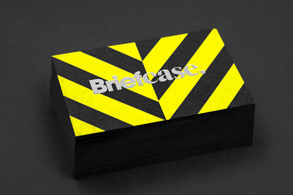 Business card of the Briefcase brand identity.