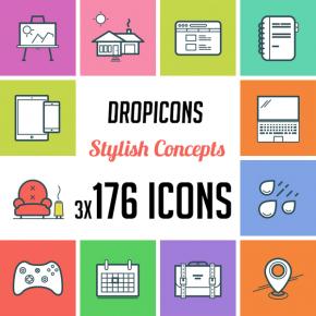 Dropicons - Flat Line Icons