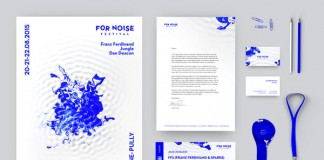 For Noise - Music Festival identity design by Alexandre Pietra.