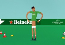 Heineken - UEFA Champions League animation created by Amsterdam based creative production studio PlusOne.