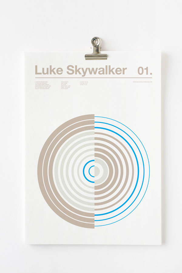 Minimalist Posters by Nick Barclay of Star Wars Characters