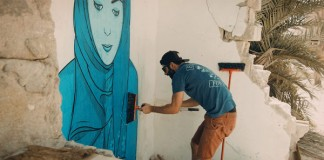 Still from Art Of One, a new series of short film portraits focusing on Dubai-based artists.