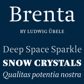 Brenta Font Family by Ludwig Übele
