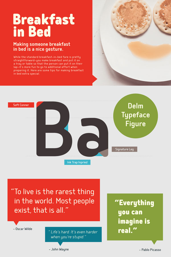 The Delm fonts from Typesketchbook, a large and useful family for multiple applications.