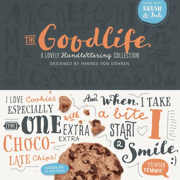 The Goodlife type family is a versatile handlettering collection designed by Hannes von Döhren.