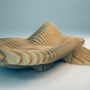 Parametric Design, The Curvilign Bench by Clément Loyer