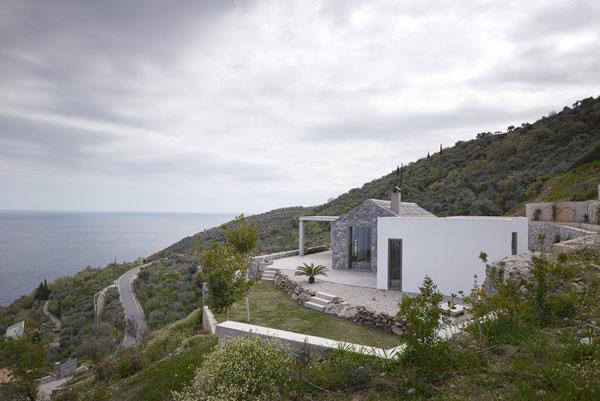 Villa Melana, a Modern House in Greece with Great Sea Views