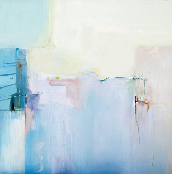 A light blue artwork by Polish student Joanna Pieczyńska.